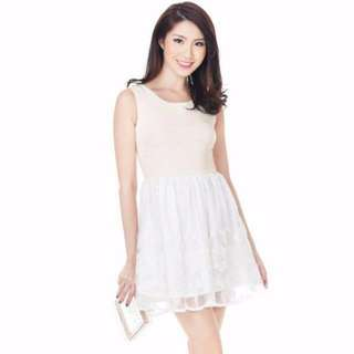 TCL Polly Pearl Dress in Cream