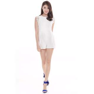 TCL Lace Beauty Romper in White