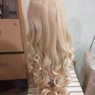 Long Curly Blonde Wig For Cosplay