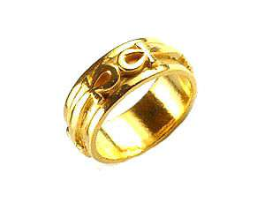 Egyptian Eternal Life Ankh Ring 24kt Gold plated egypt Choose your ring size