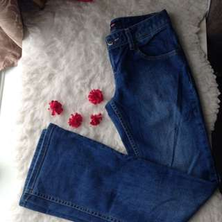 boot cut denim jeans blue