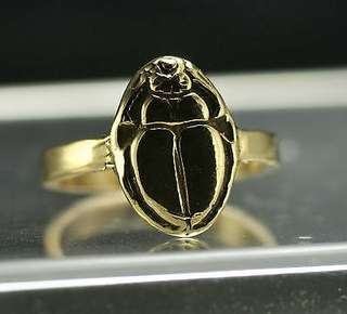 Egyptian Ring SCARAB BEETLE Egypt Jewelry Gold plated Choose your ring size