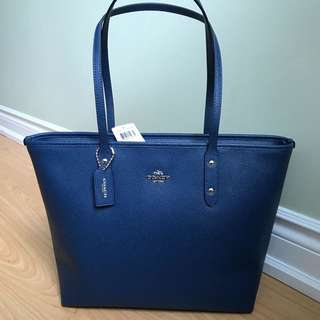NWT Navy Blue Coach Tote