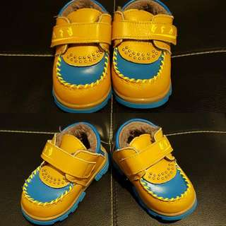 《Brown/Blue Sz18 Baby Shoes》