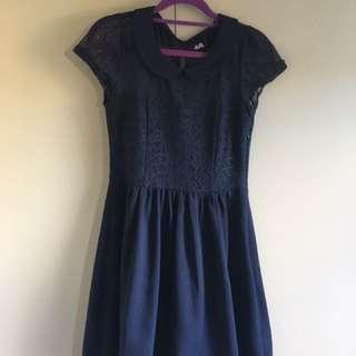 Navy Dress | Dotti