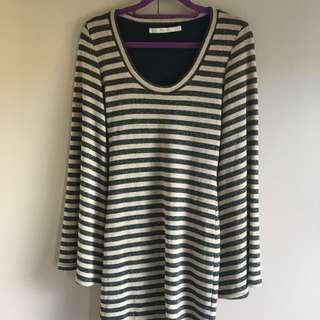 Striped Dress   Zara