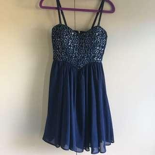 Blue Sparkly Dress | Dotti