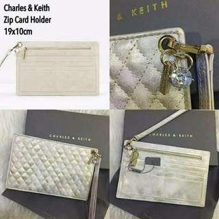 Charles N Keith ZIP CARD HOLDER