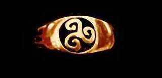 Gold Plated Celtic triskele Fylfot Wicca Ring Jewelry Choose your ring size