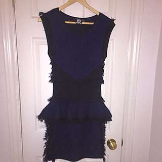 McQ by Alexander McQueen Knit Fringed Minidress Sz S