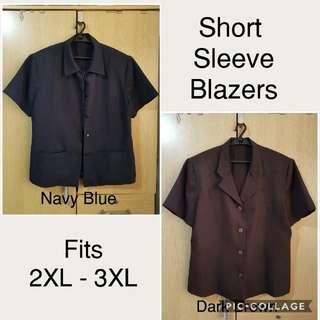 PLUS SIZE 2pcs Short Sleeve Blazers