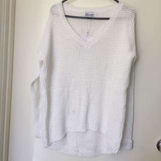 White Knitting Top