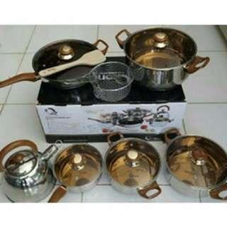 Ox-933 Oxone Panci Eco Cookware set 12 + 2 pcs