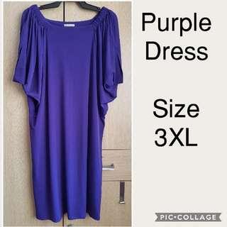 PLUS SIZE Pre-loved Item Purple Dress Fits 3XL