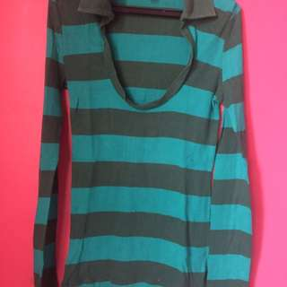 Blue Green Long Sleeves