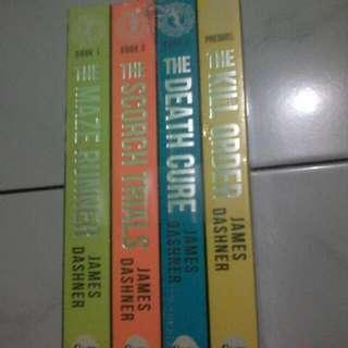 [NOVEL] Boxset The Maze Runner By James Dashner (Novel Import Murah)