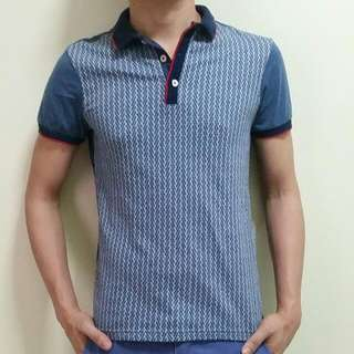 Blued Polo Shirt