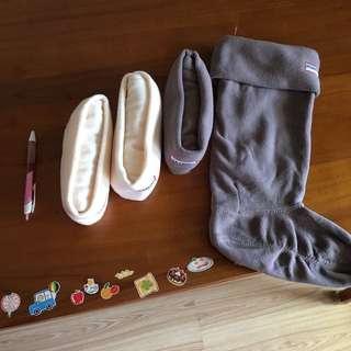 HUNTER 雨靴 冬天使用的襪套