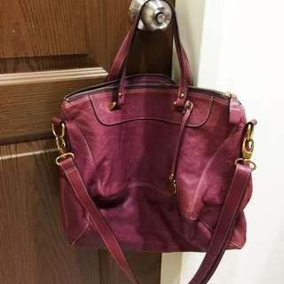 Rabeanco品牌經典菱型包(大)紫紅