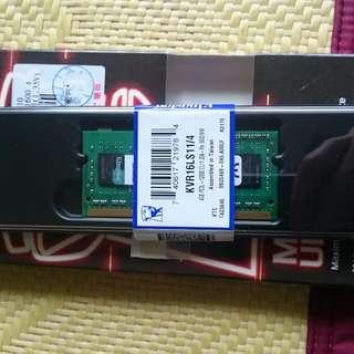 金士頓 DDR3L 4g
