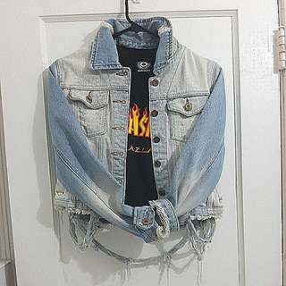 Costa Blanca Denim Distressed Jacket