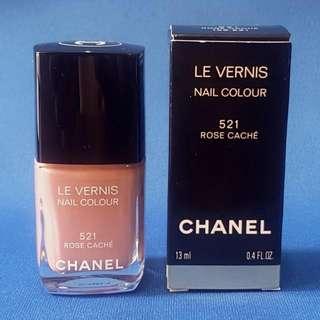 Chanel Nail Polish No. 521 ROSE CACHE