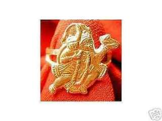 Hindu Monkey Lord Hanuman OM Gold Plated ring Jewelry Choose your ring size