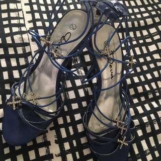 Royal Blue Strappy Sandal