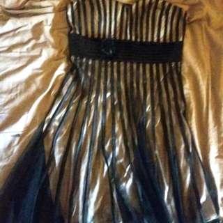 strapless dress size 8
