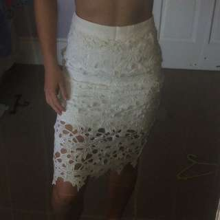 Glassons White Skirt