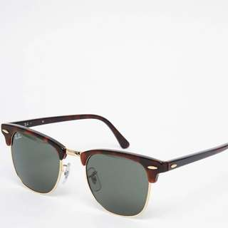 Ray Ban Club master Sunglasses Gold Tortoise