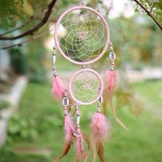 Pink Ombré Seashell Dreamcatcher