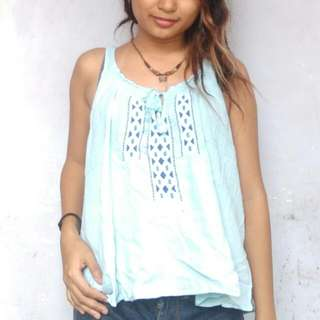 Hollister Embroidered Top