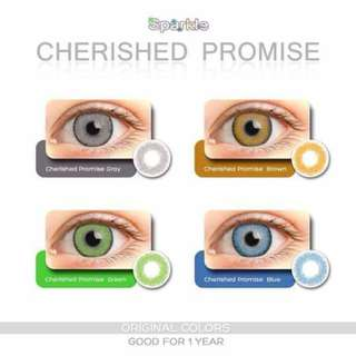 CHERISHED PROMISE Sparkle contact lenses