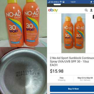 NO AD Sunblock Spray