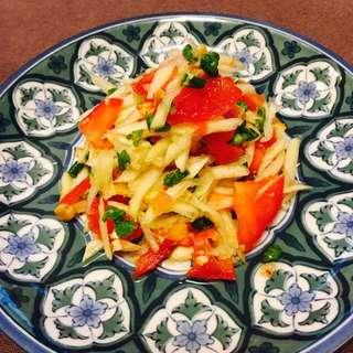 [拌作伙👴🏼👵🏼💕] 🥗即食涼拌菜--泰式涼拌木瓜絲🥗