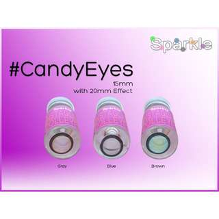 CANDY EYES 15MM Sparkle contact lenses