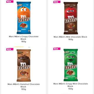 PO M&M Chocolate Bars