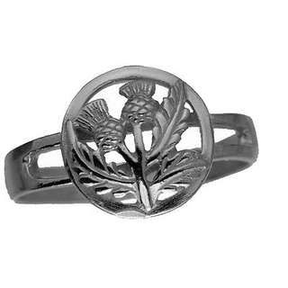 New Celtic Thistle shamrock Real genuine Sterling Silver .925 Ring Jewelry Irish Choose your ring size