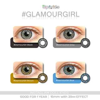 GLAMOUR GIRL 15MM Sparkle contact lenses