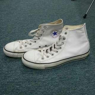 Converse All Star 白皮鞋