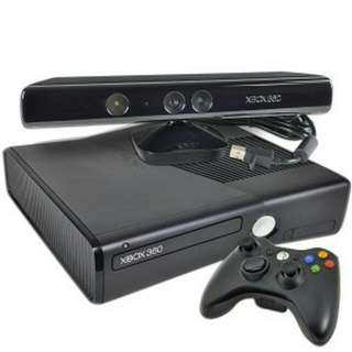 Xbox 360 Slim - 320GB With Kinect & 4 Game Controllers - Selling Cheap