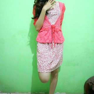 flowe dress + outer