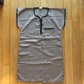 Toddler Brown Jubah Short Sleeves