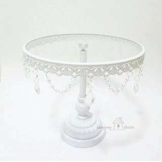 ON SALE WHITE LACE CAKE STAND