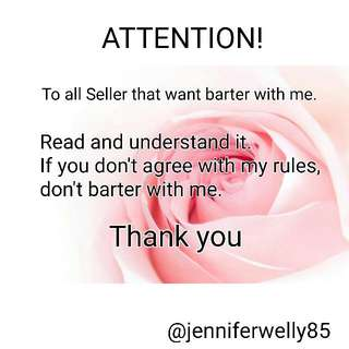 My Barter Rules