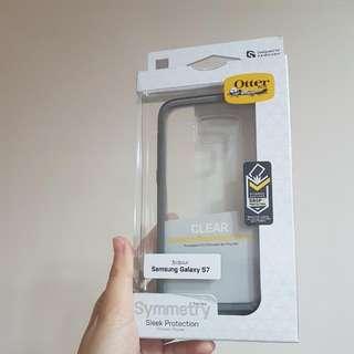🚚 S7透明灰色鑲邊手機殼