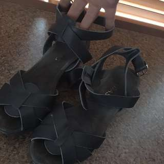 Midas Grey Leather Sandals
