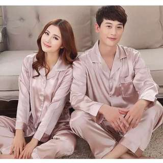 Couples pajamas spring and summer long sleeves fun silk large code Korean women silk sexy home service two suit New