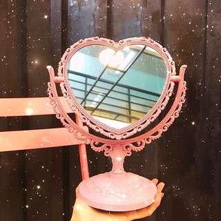 少女復古宮廷 旋轉桌上鏡 化妝鏡